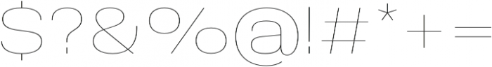 Molde SemiExpanded-Thin otf (100) Font OTHER CHARS