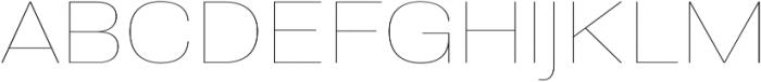 Molde SemiExpanded-Thin otf (100) Font UPPERCASE