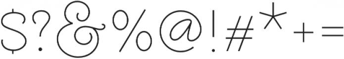Molga Light otf (300) Font OTHER CHARS