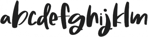 Molly And Elroy Regular otf (400) Font LOWERCASE