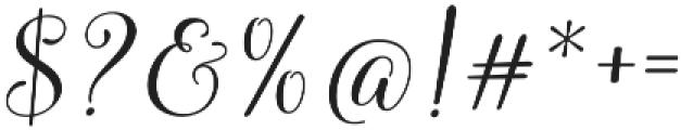 Molly Script Slant otf (400) Font OTHER CHARS