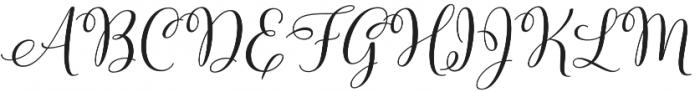 Molly Script Slant otf (400) Font UPPERCASE