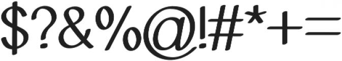 Molye Regular otf (400) Font OTHER CHARS