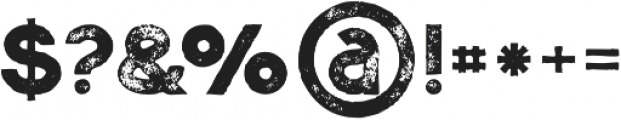 Momoco Grunge otf (400) Font OTHER CHARS