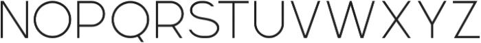 Momoco Thin otf (100) Font UPPERCASE