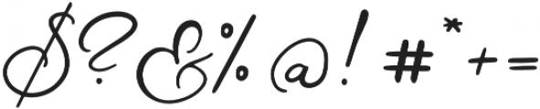 Mon Amour Script otf (400) Font OTHER CHARS