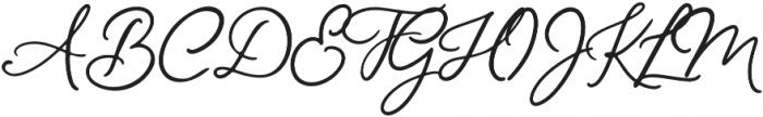 Mon Amour Script otf (400) Font UPPERCASE