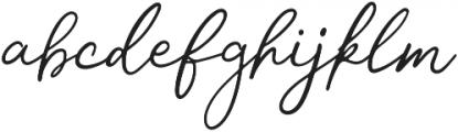 Mon Amour Script otf (400) Font LOWERCASE