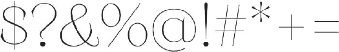 Monckeberg ExtraLight otf (200) Font OTHER CHARS