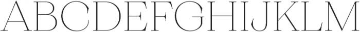 Monckeberg ExtraLight otf (200) Font UPPERCASE