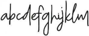 Monday Night otf (400) Font LOWERCASE