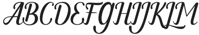 Monday Regular otf (400) Font UPPERCASE
