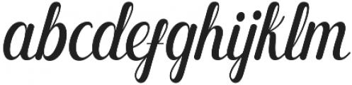 Monday Regular otf (400) Font LOWERCASE