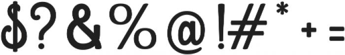 Mondella Regular otf (400) Font OTHER CHARS