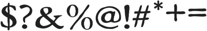 Monecias Regular otf (400) Font OTHER CHARS