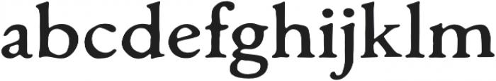 Monecias Regular otf (400) Font LOWERCASE