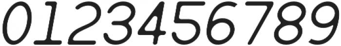 Monique Regular Oblique Round 40 otf (400) Font OTHER CHARS