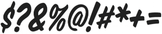 Monkey Buns Condensed Italic otf (400) Font OTHER CHARS
