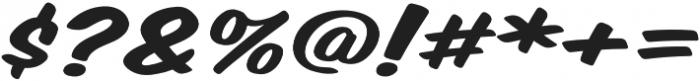 Monkey Buns Expanded Italic otf (400) Font OTHER CHARS