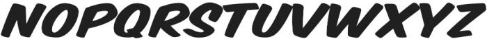 Monkey Buns Expanded Italic otf (400) Font UPPERCASE