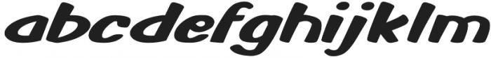 Monkey Buns Expanded Italic otf (400) Font LOWERCASE