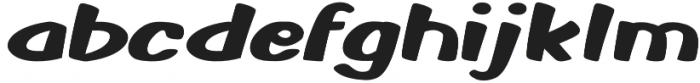 Monkey Buns Expanded Regular otf (400) Font LOWERCASE