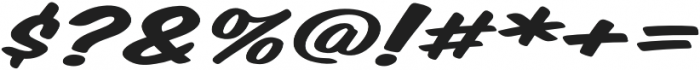 Monkey Buns Extra-expanded Italic otf (400) Font OTHER CHARS