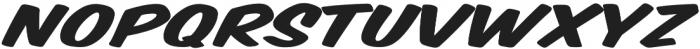 Monkey Buns Extra-expanded Italic otf (400) Font UPPERCASE