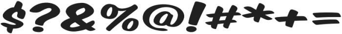 Monkey Buns Extra-expanded Regular otf (400) Font OTHER CHARS