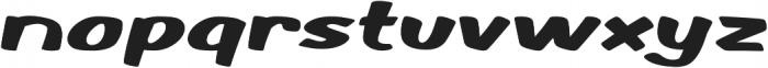 Monkey Buns Extra-expanded Regular otf (400) Font LOWERCASE