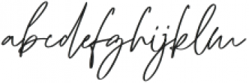 Monkeystand otf (400) Font LOWERCASE