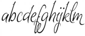 Monkuta Regular otf (400) Font LOWERCASE