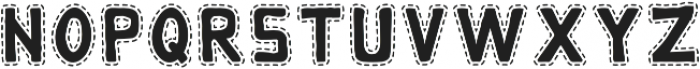 Monky - Dotted Regular otf (400) Font LOWERCASE