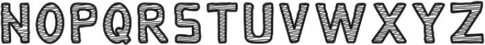 Monky - Scribbly Regular otf (400) Font UPPERCASE