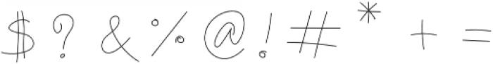 MonoVirgin Script otf (400) Font OTHER CHARS
