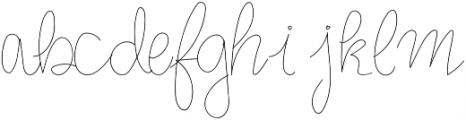 MonoVirgin Script otf (400) Font LOWERCASE