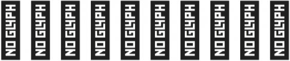 Monogram Block otf (400) Font OTHER CHARS