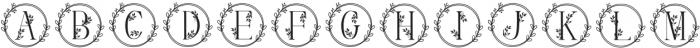 Monogram Handrawn Floral otf (400) Font UPPERCASE
