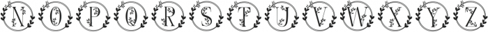 Monogram Handrawn Floral otf (400) Font LOWERCASE