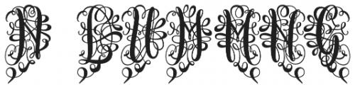 Monogram Script Heart Unmerged otf (400) Font OTHER CHARS