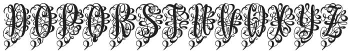 Monogram Script Heart Unmerged otf (400) Font UPPERCASE