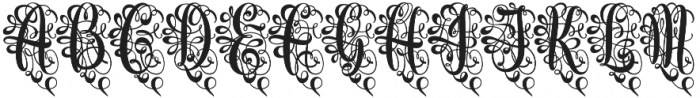 Monogram Script Heart Unmerged otf (400) Font LOWERCASE