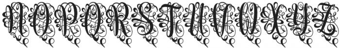 Monogram Script Heart otf (400) Font LOWERCASE