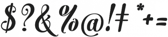 Monogram Script Plain otf (400) Font OTHER CHARS