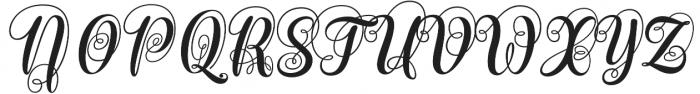Monogram Script Plain otf (400) Font UPPERCASE