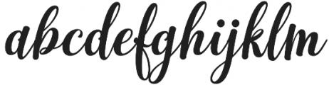 Monogram Script Plain otf (400) Font LOWERCASE