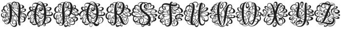Monogram Script Single Unmerged otf (400) Font UPPERCASE