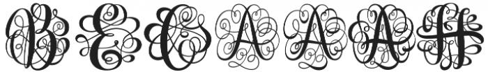 Monogram Script Single otf (400) Font OTHER CHARS