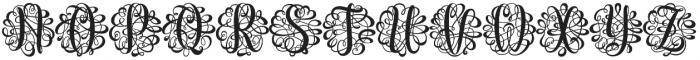 Monogram Script Single otf (400) Font UPPERCASE