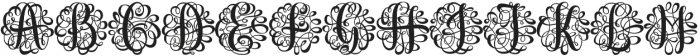 Monogram Script Single otf (400) Font LOWERCASE
